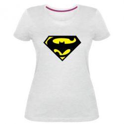 Жіноча стрейчева футболка БетСупермен