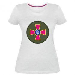 Женская стрейчевая футболка Безпека Військової Служби