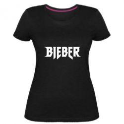 Женская стрейчевая футболка Bieber