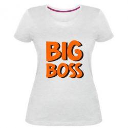 Женская стрейчевая футболка Big Boss