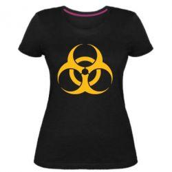 Женская стрейчевая футболка biohazard
