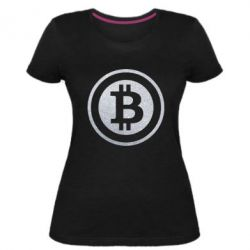 Женская стрейчевая футболка Bitcoin