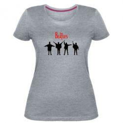 Жіноча стрейчева футболка Бітли
