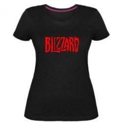 Жіноча стрейчева футболка Blizzard Logo