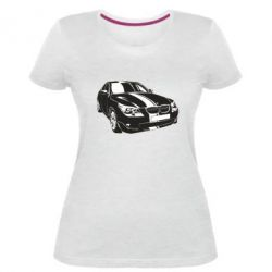 Купить Mastiks, Женская стрейчевая футболка BMW car, FatLine