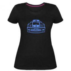 Женская стрейчевая футболка BMW E34