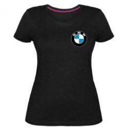 Женская стрейчевая футболка BMW Small