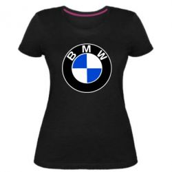 Женская стрейчевая футболка BMW