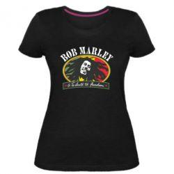 Купить Женская стрейчевая футболка Bob Marley A Tribute To Freedom, FatLine