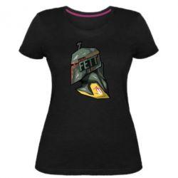 Жіноча стрейчева футболка Boba Fett