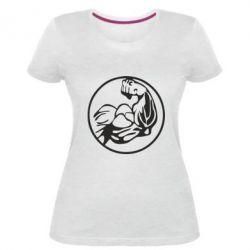 Жіноча стрейчева футболка Бодібілдинг
