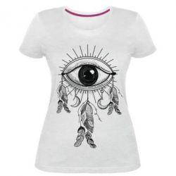 Купить Женская стрейчевая футболка Boho Eye, FatLine
