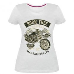 Жіноча стрейчева футболка Born Free Choppers