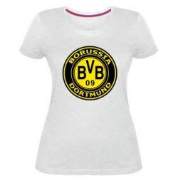 Жіноча стрейчева футболка Borussia Dortmund