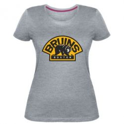 Женская стрейчевая футболка Boston Bruins - FatLine