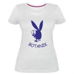Жіноча стрейчева футболка Ботанік