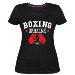Женская стрейчевая футболка Boxing Ukraine