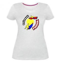 Женская стрейчевая футболка Бойовий гопак