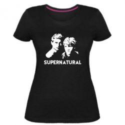 Женская стрейчевая футболка Братья Винчестеры Сверхъестественное - FatLine