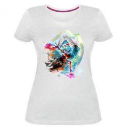 Женская стрейчевая футболка Брэйк Арт
