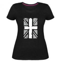 Женская стрейчевая футболка Британский флаг