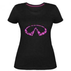 Жіноча стрейчева футболка Broken logo