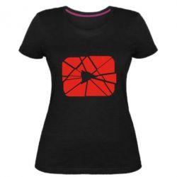 Жіноча стрейчева футболка Broken