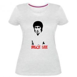 Женская стрейчевая футболка Bruce Lee