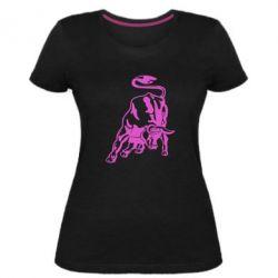 Жіноча стрейчева футболка Bull