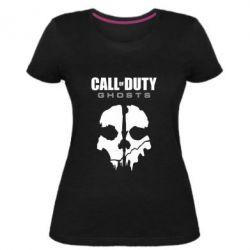 Женская стрейчевая футболка Call of Duty Ghosts - FatLine