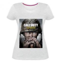 Жіноча стрейчева футболка Call of Duty WW2 poster