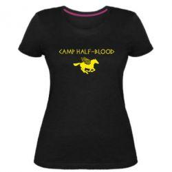 Женская стрейчевая футболка Camp half-blood