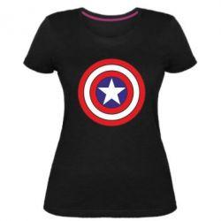Женская стрейчевая футболка Captain America