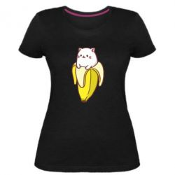 Женская стрейчевая футболка Cat and Banana