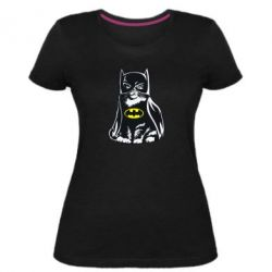 Жіноча стрейчева футболка Cat Batman