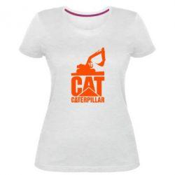 Жіноча стрейчева футболка Caterpillar cat
