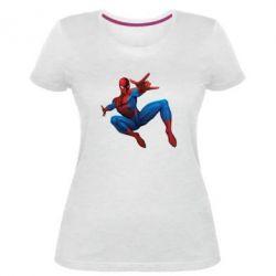Женская стрейчевая футболка Человек Паук - FatLine