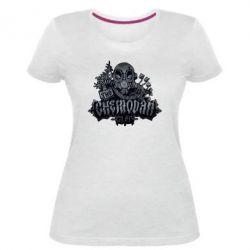 Женская стрейчевая футболка Chemodan Clan Art