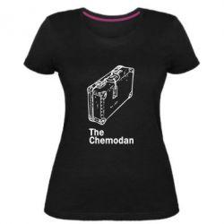Жіноча стрейчева футболка Валіза Logo