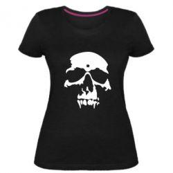 Жіноча стрейчева футболка Череп