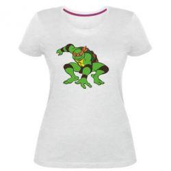 Жіноча стрейчева футболка Черепашки-ніндзя