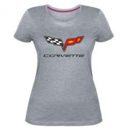Жіноча стрейчева футболка Chevrolet Corvette