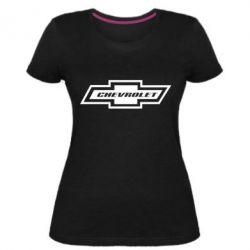 Жіноча стрейчева футболка Chevrolet Log