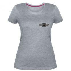 Жіноча стрейчева футболка Chevrolet Logo Small