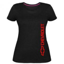 Женская стрейчевая футболка Chevrolet  Vert