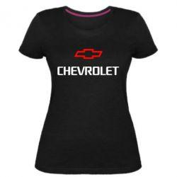 Женская стрейчевая футболка CHEVROLET