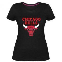 Женская стрейчевая футболка Chicago Bulls Classic