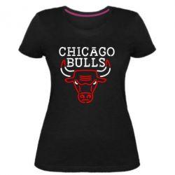 Жіноча стрейчева футболка Chicago Bulls Logo