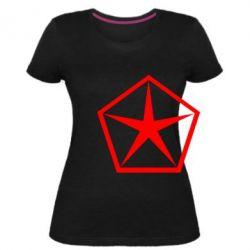 Женская стрейчевая футболка Chrysler Star