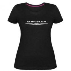 Женская стрейчевая футболка Chrysler